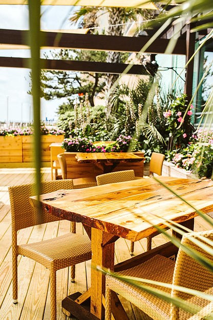 Waterman's oceanfront garden