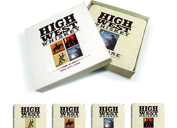 High West Core 4 Coaster Set