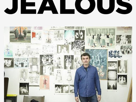 Jealous Gallery visit Adam in the studio