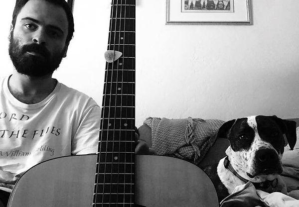 Alek, guitar, and Ripley