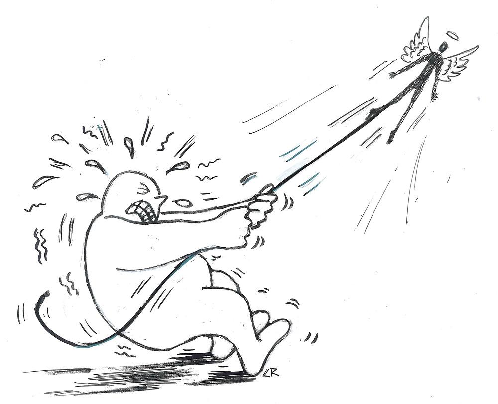 illustration par Chrystel Robin du livre votre poids vous raconte de Thibault Fortuner