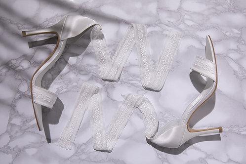 RIBON WHITE×WHITE lace