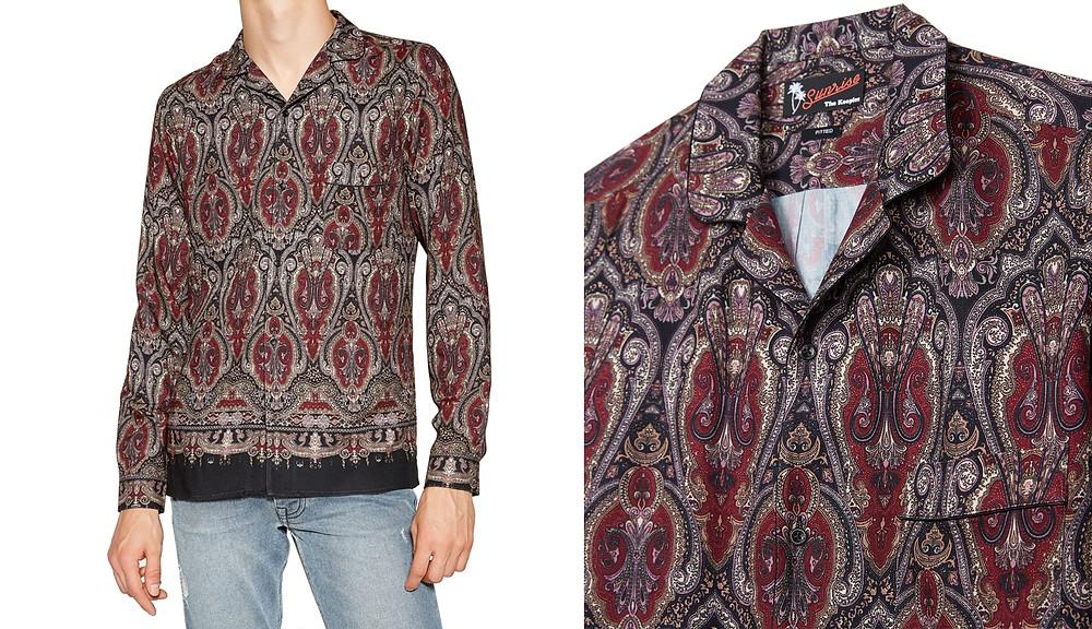 Chemise en viscose motifs orientaux