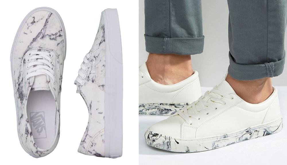 Sneakers basses motifs Mabre