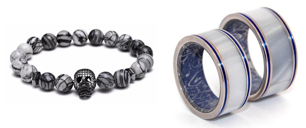 Bracelets et Bagues en Marbre