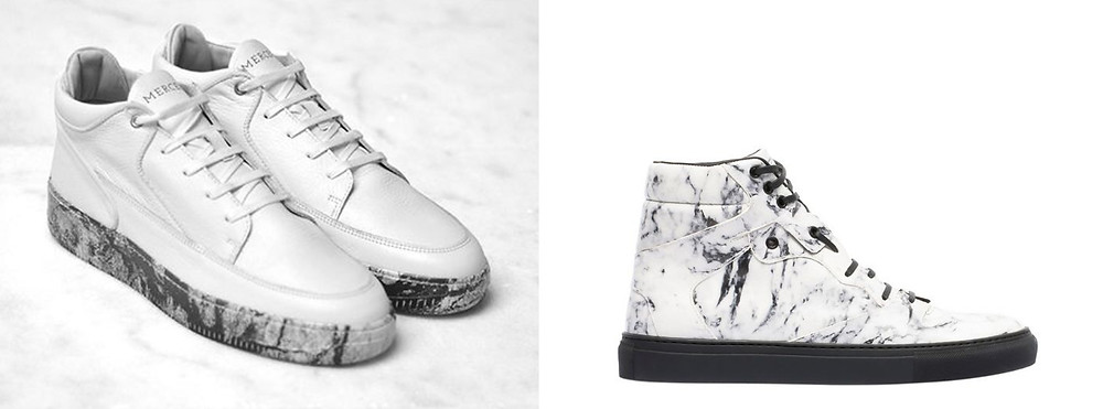 Sneakers montantes motifs Marbre