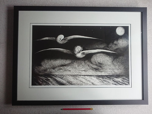 Seagull and Sailor No7. A2 signed print.