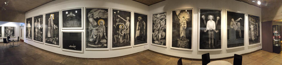 Pete Codling. Naivety Drawings. Oxford North Wall Gallery 2017