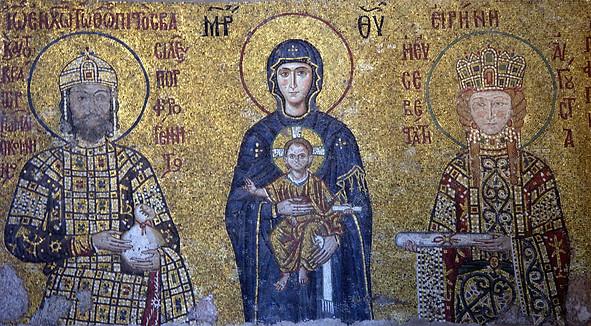Mosaïque des Comnène à Ste-Sophie