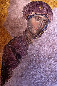Mosaïque représentant la Vierge