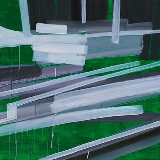 201419 2014 90x90cm  acrylic and oil canvas