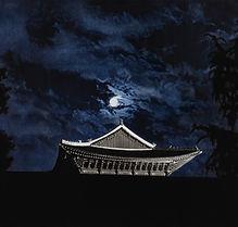 Blue Cloud (경복궁 근정전), 새김, Oil pastel, Ac