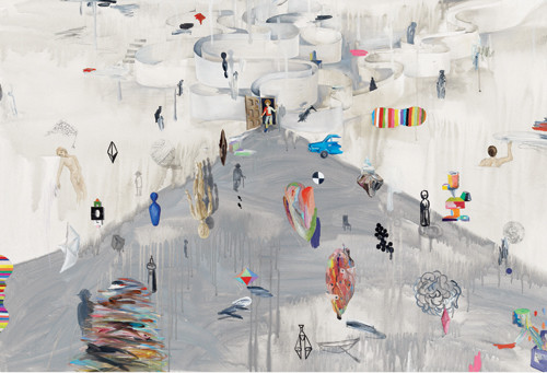 Never ending dreams 2012 92×136.5cm mixed media on canvas