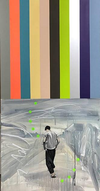 생각분석 Mind Analysis 2017 130x65cm Acrylic on canvas