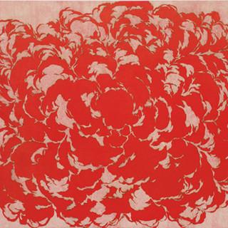 Bang1 2013 130.3x193.3cm burned hanji paper and acrylic on canvas
