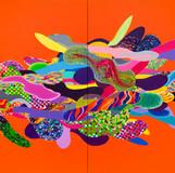 Color Phantasmagoria 2012 364x182cm oil on canvas