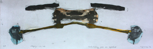 allegory-SL145 2012 45x20cm handcolouring over an aquatint