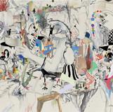카이로스의 계단 2012 244x108cm mixed media on canvas