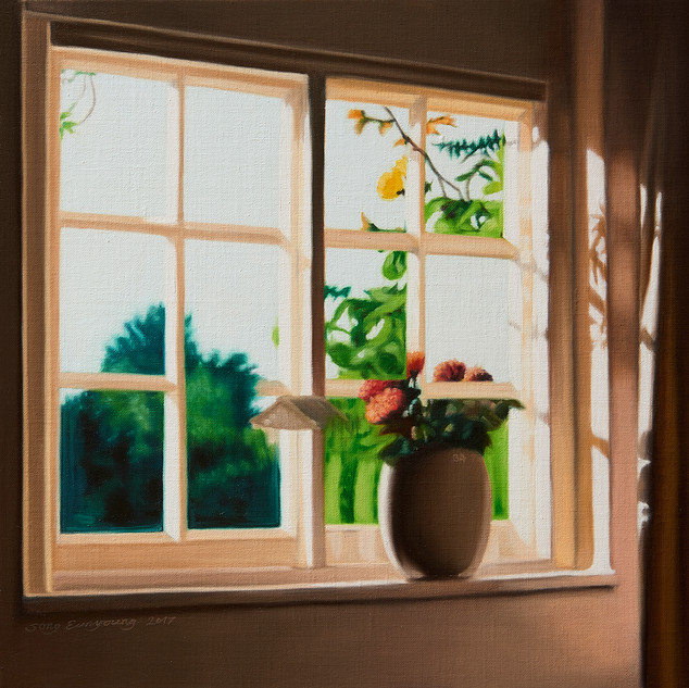 34 (a Vase and a Window) 2017 50 x 50cm oil on linen