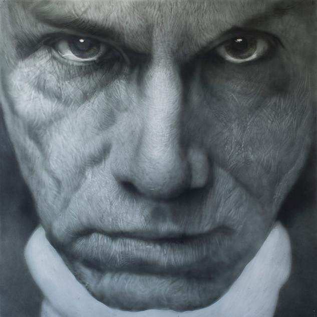 Andy Warhol 2015  oil on aluminum  121 x 121cm
