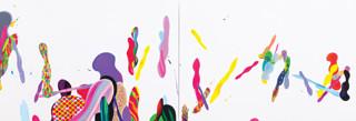 Color Phantasmagoria 2012 600x130cm oil on canvas