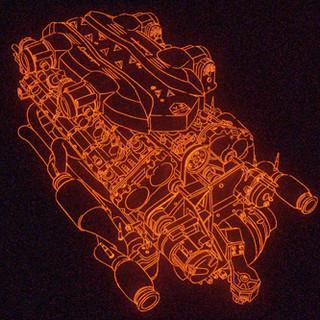 """Lap time 7963""""(Lamborghini) 2013 120x160cm pigment print"""