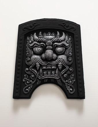 도깨비(Roof tile with Goblin face, 귀면기와), 새