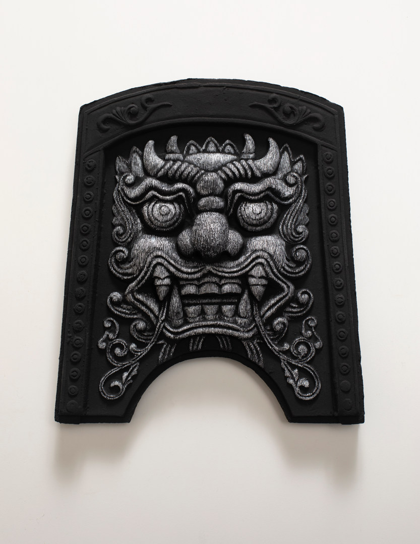 도깨비(Roof tile with Goblin face, 귀면기와), 새