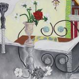 한 화병의 그림자 방 the Shadow Room of a Vase 2010 53x65cm oil on canvas