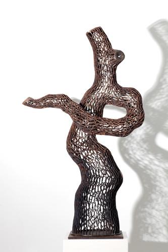 인송 2012-3 2012 93x95x25cm 동파이프 산소용접 copper welding