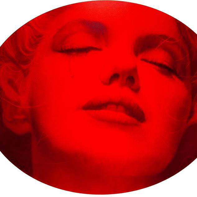 M.Monroe  2018  oil on canvas  120x150cm diameter