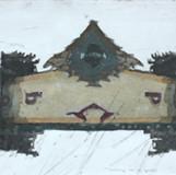 생각의 가속도2 2012 90x30cm handcolouring over an aquatint