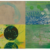 Abacada 03 2009-2011 20x30cm (4panels) mixed medium on canvas
