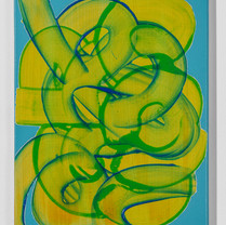 Bluegreen 40.9 x 31.8 cm painting marker, acrylic on canvas 2020