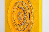 공간의 재구성 No.14 (황금 문) 107x107cm 우레탄도료, 알루