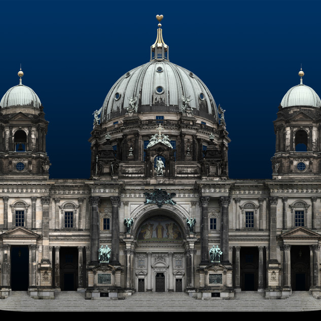 From Moment To Eternity (Berliner dom), photograph, computer graphic, inkjet print, acryl, wood frame, 100x119cm, 2015, Ed.1/6