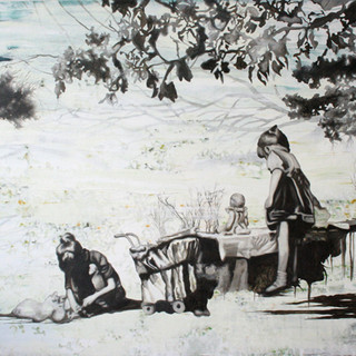 Idyll-소풍 2012 122x100cm mixed media