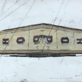 생각의 가속도1 2012 90x30cm handcolouring over an aquatint