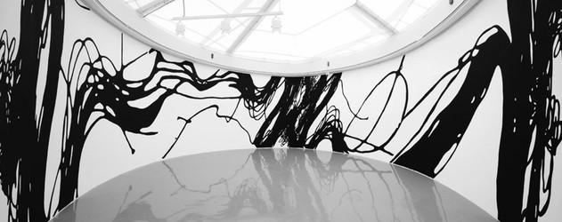 Jumble Painting 09-gravity TS, 380x3100cm, 벽화 설치전경, 2009.JPG