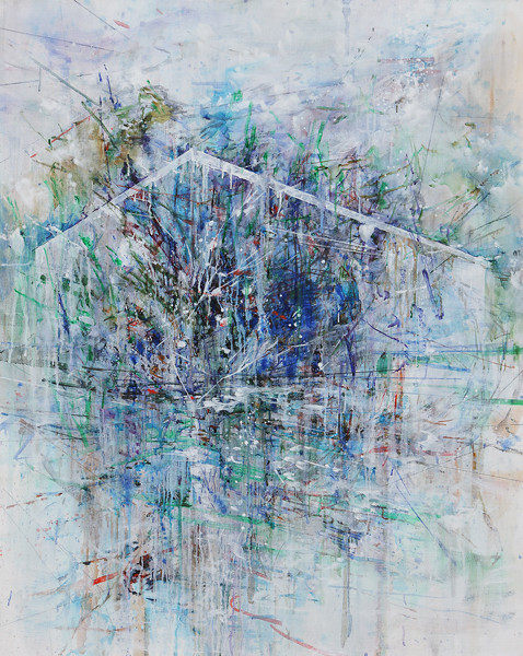 Untitled100929-929001 (construction reflected) 2010 91x73cm oil on linen
