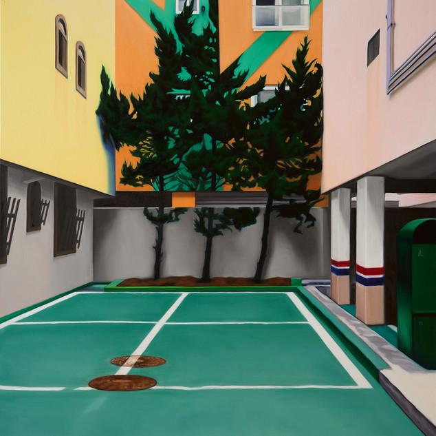32 (Three Trees) 2017 162 x 130.3cm oil on linen