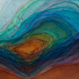 바다가 시작되는 소리 2012 116.8x80.3cm oil on canvas, anti-uv varnish