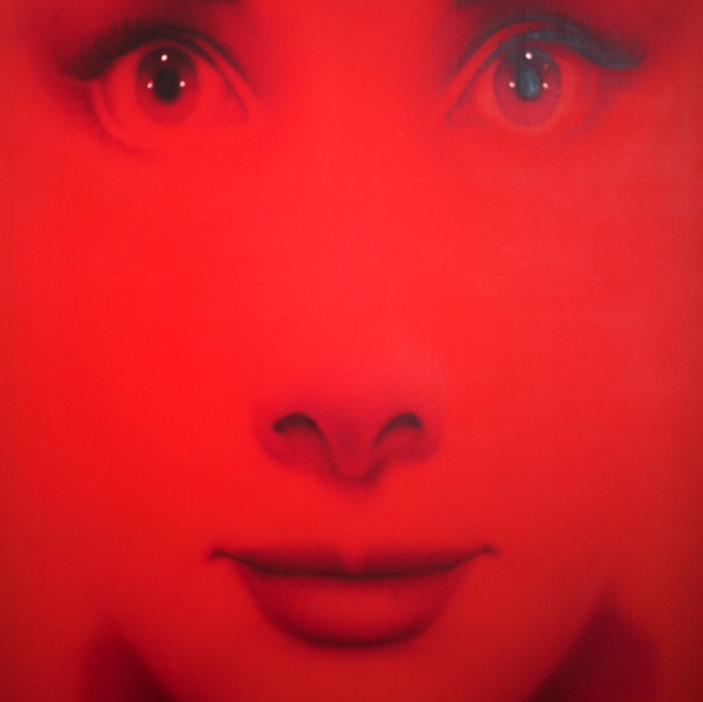 Audrey 3 one face three colors  2020  oil on canvas  193x130cm