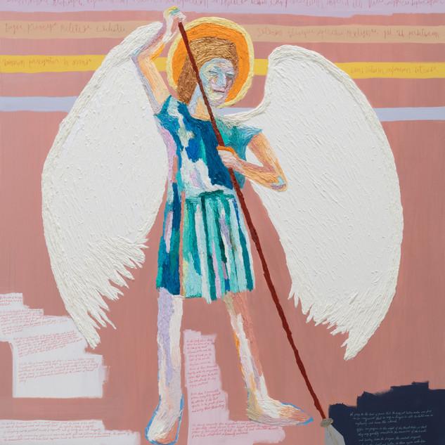 Archangel oil on canvas 162.2x130.3cm 2019