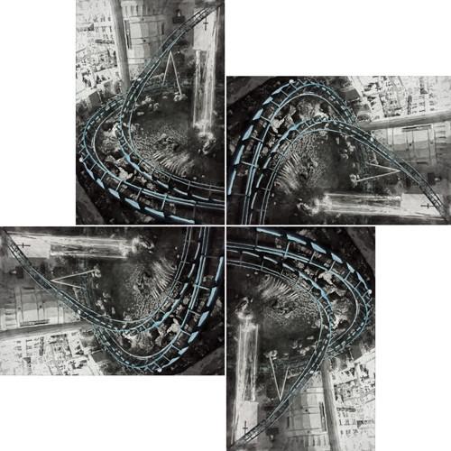 기억의 빅뱅  2012 90x60cm(x4) handcolouring over an aquatint