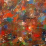 Crimson Bubbles 자주빛 방울 2011 152x213cm oil on canvas