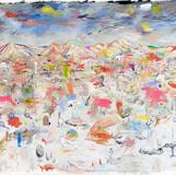 Practical Paradise 2011 180×240cm mixed media on canvas