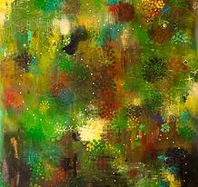 Green Air 연두색 바람 190x131cm oil on canvas