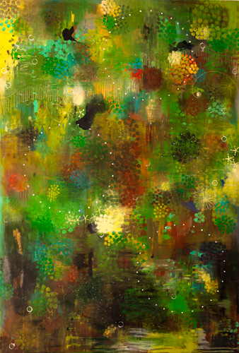 Green Air 연두색 바람 2010-2011 190x131cm oil on canvas