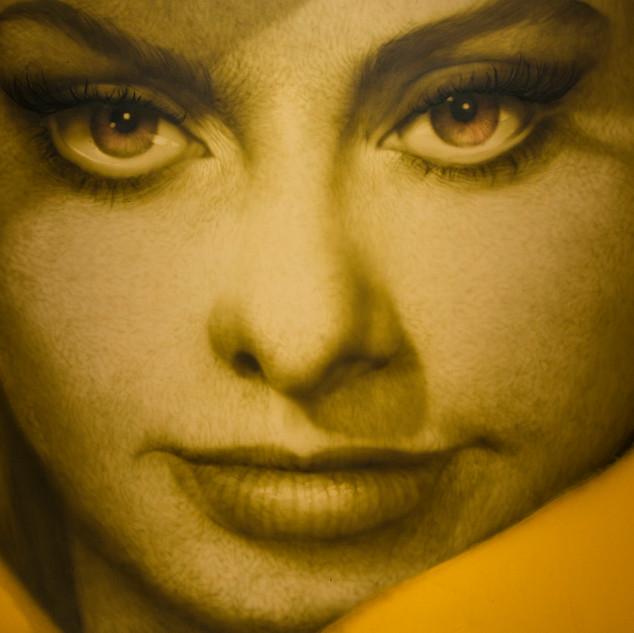 Sophia Loren 2020 Oil on canvas 130x194cm